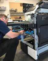 Gutting the copier before cleaning