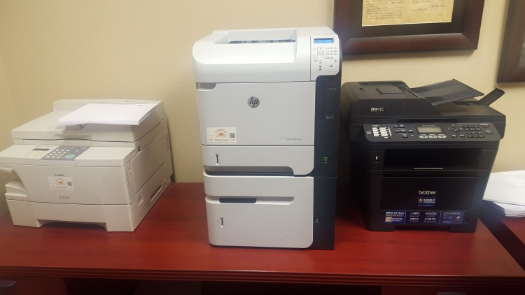 printer for managed printing in las vegas