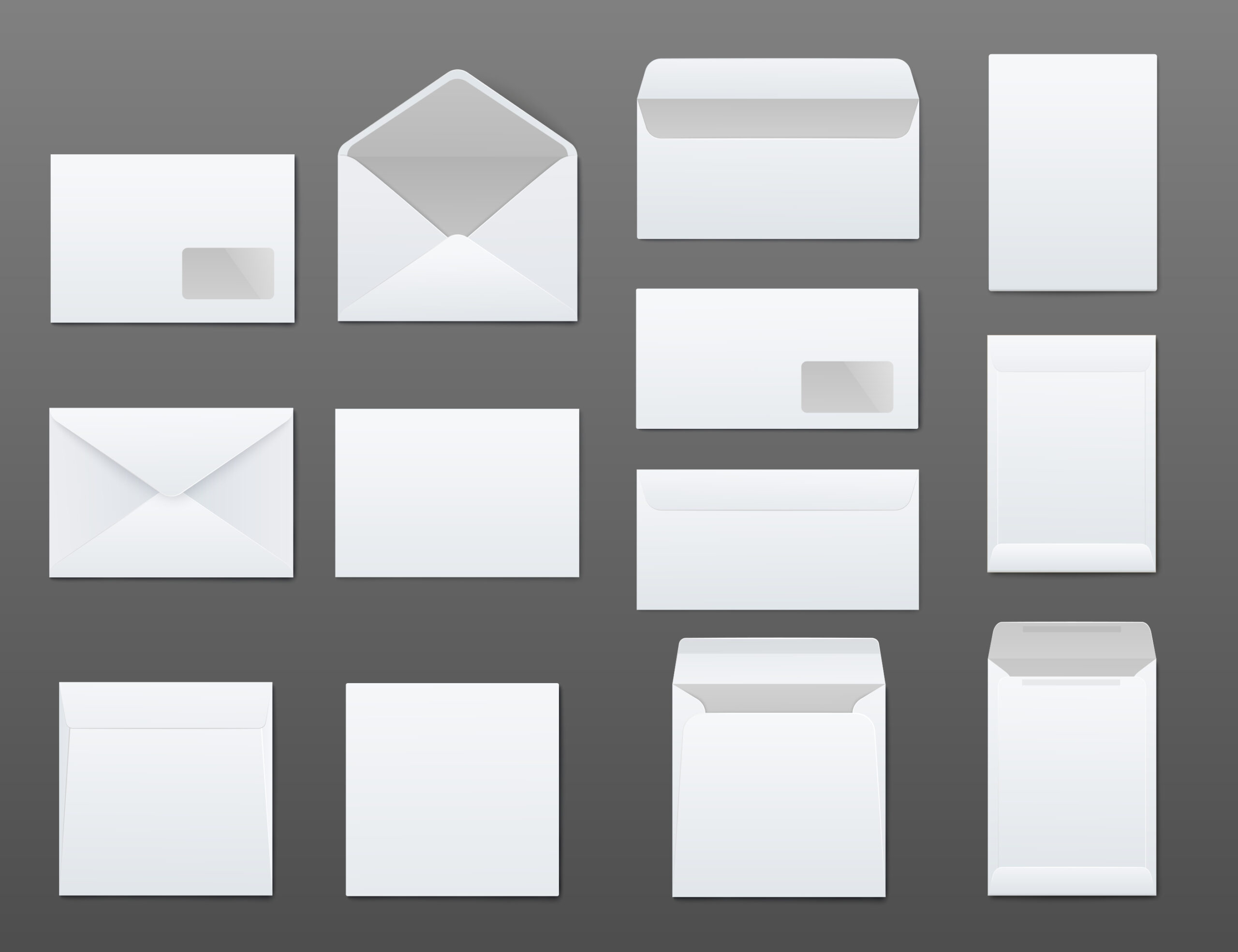 multiple different envelope types