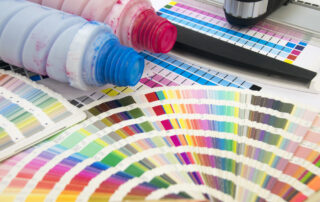 digital printer toner with different colors as a copier service